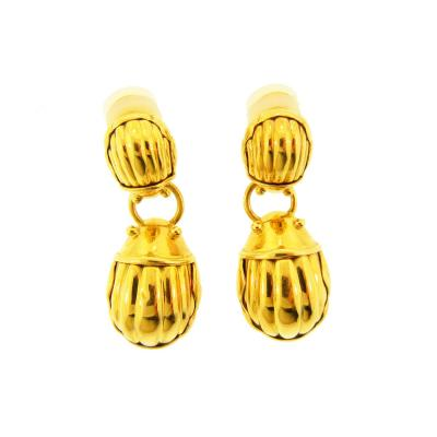 Tiffany Co Tiffany Co Scarab Gold Earrings