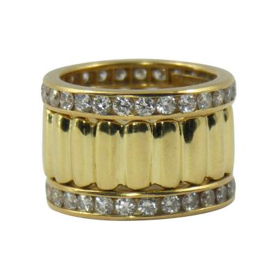 Tiffany Co Tiffany Co Set of Three Diamond and Yellow Gold Eternity Bands