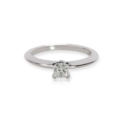 Tiffany Co Tiffany Co Solitaire Diamond Engagement Ring in Platinum E VS2 0 31 CTW