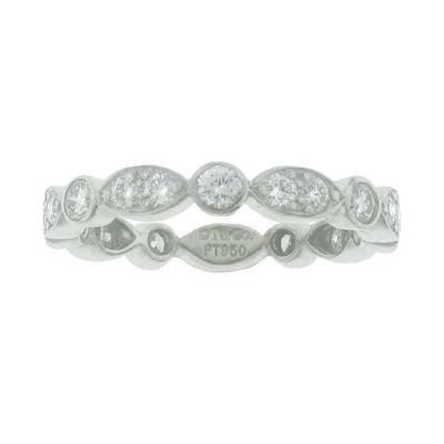 Tiffany Co Tiffany Co Swing Diamond Platinum Band