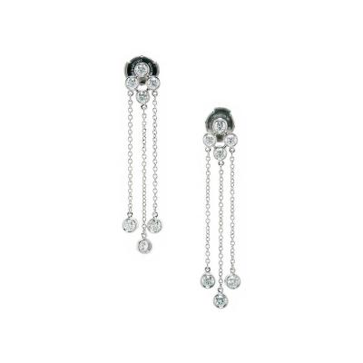 Tiffany Co Tiffany Co Triple Dangle Diamond Platinum Earrings
