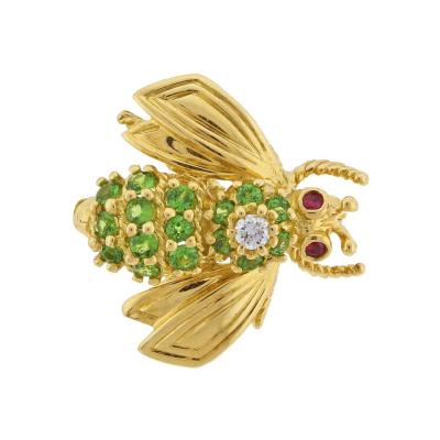 Tiffany Co Tiffany Co Tsavorite Diamond Yellow Gold Brooch