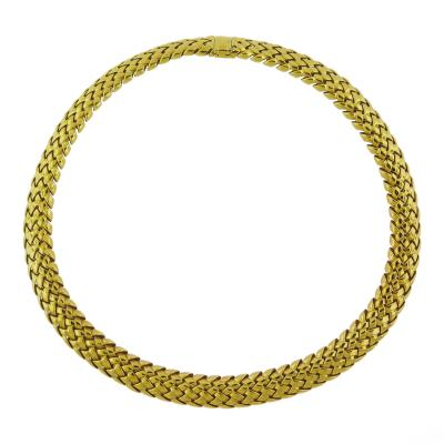 Tiffany Co Tiffany Co Vannerie Gold Collar Necklace