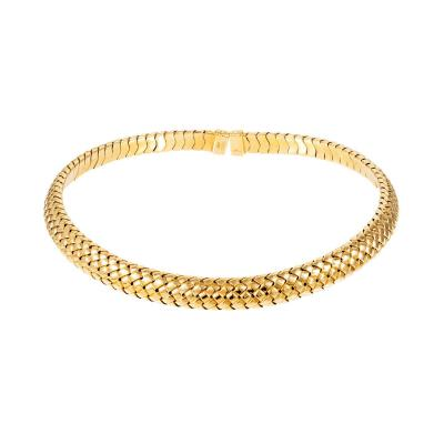 Tiffany Co Tiffany Co Yellow Gold Mesh Collar Necklace