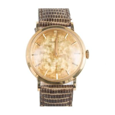 Tiffany Co Tiffany Co Yellow Gold Movado Wristwatch circa 1951