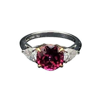 Tiffany Co Tiffany Co pink tourmaline and diamond ring