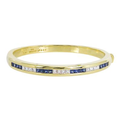 Tiffany Co Tiffany Co sapphire and diamond bangle bracelet