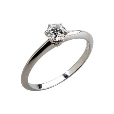 Tiffany Co Tiffany Platinum Engagement Ring with Diamond