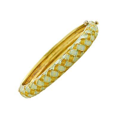 Tiffany Co Tiffany and Co 1930s Enamel Bangle V17307