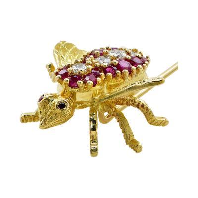 Tiffany Co Tiffany and Co Ruby Diamond Stick Pin V17623