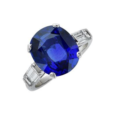 Tiffany Co Tiffany and Co Sapphire and Diamond Ring V17898