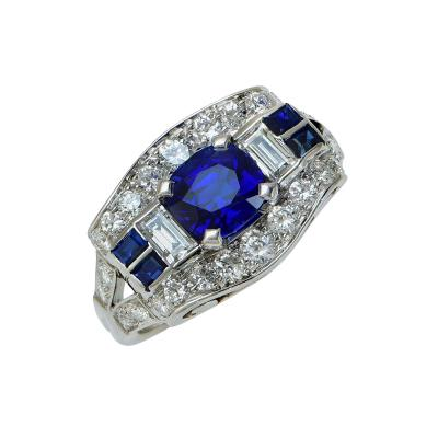 Tiffany Co Tiffany and Co Sapphire and Diamond Ring V18522