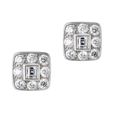 Tiffany Co Tiffany diamond cluster earrings