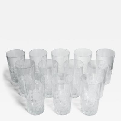 Tiffany Co Vintage Set Twelve Cut Crystal Midcentury Tiffany High Ball Glasses