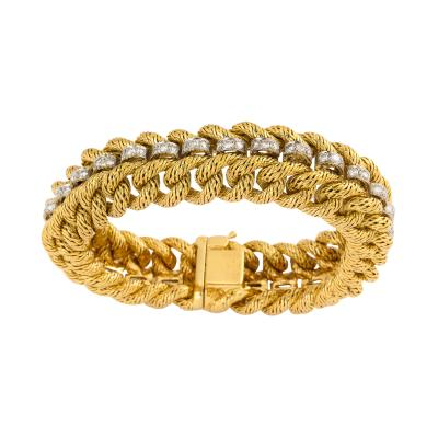Tiffany and Co Gold and Diamond Bracelet by Tiffany Co