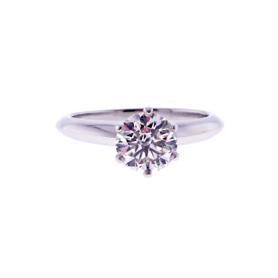 Tiffany and Co Tiffany Co 1 28 Carat Diamond Engagement Ring