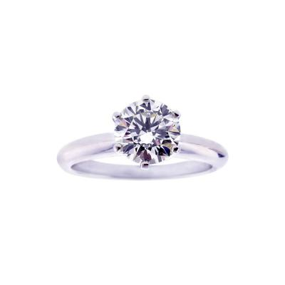 Tiffany and Co Tiffany Co 1 29 Carat Diamond Solitaire Engagement Ring