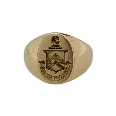Tiffany and Co Tiffany Co 14k Signet Ring with Coat of Arms