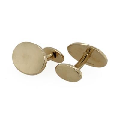 Tiffany and Co Tiffany Co 18k Gold Simple Oval Cufflinks
