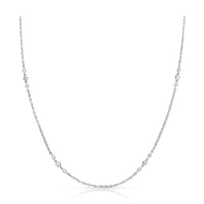 Tiffany and Co Tiffany Co 8 Station Diamond Necklace in Platinum 0 56 CTW