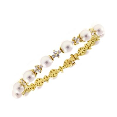 Tiffany and Co Tiffany Co Aria Pearl Diamond 18 Karat Bracelet