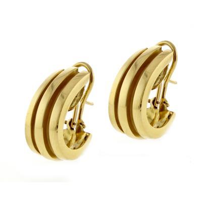 Tiffany and Co Tiffany Co Atlas Hoop Gold Earrings