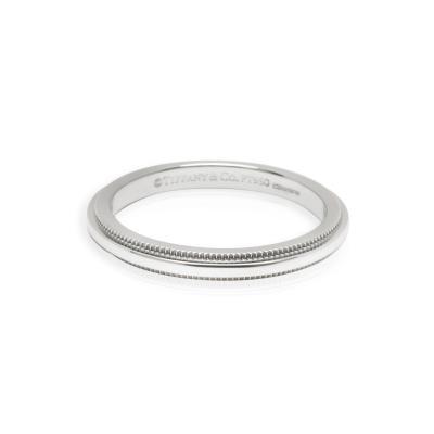 Tiffany and Co Tiffany Co Classic Milgrain 2mm Wedding Band in Platinum