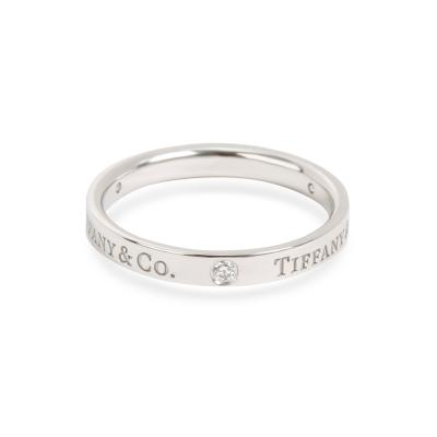 Tiffany and Co Tiffany Co Diamond Band Ring in Platinum 0 07 CTW