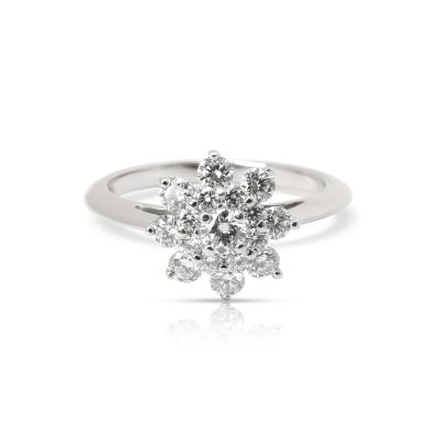 Tiffany and Co Tiffany Co Diamond Flower Ring in Platinum 0 60 CTW