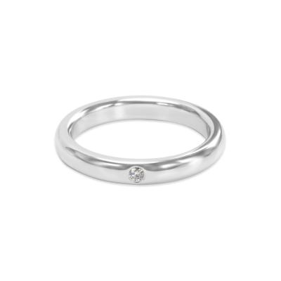 Tiffany and Co Tiffany Co Elsa Peretti One Diamond Band in Platinum 0 02 CTW