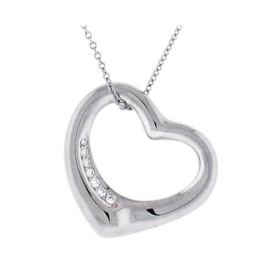 Tiffany and Co Tiffany Co Elsa Peretti Open Heart Platinum Pendant Necklace
