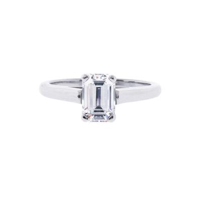 Tiffany and Co Tiffany Co Emerald Cut Diamond Solitaire Engagement Ring