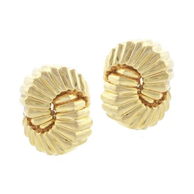 Tiffany and Co Tiffany Co Fluted Gold Earrings