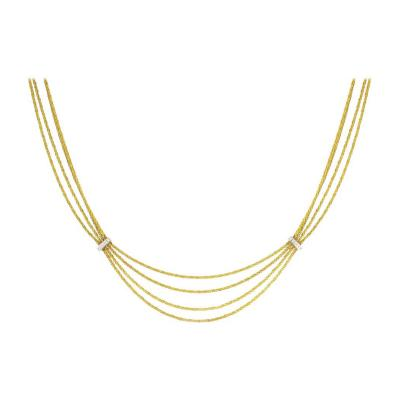 Tiffany and Co Tiffany Co Four Stand Gold and Diamond Necklace
