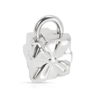 Tiffany and Co Tiffany Co Gift Box Lock Charm in Sterling Silver