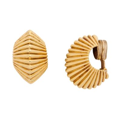 Tiffany and Co Tiffany Co Gold Fluted Earclips