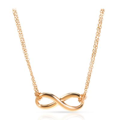 Tiffany and Co Tiffany Co Infinity Necklace in 18K Rose Gold