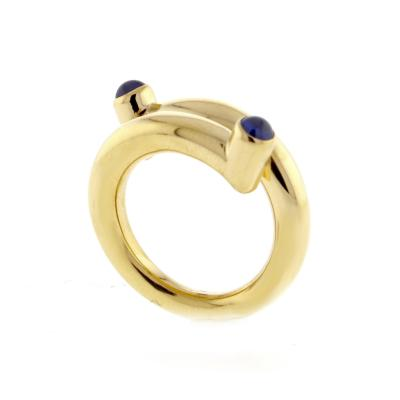 bf8b987292699 Tiffany and Co. - Tiffany & Co. Jean Schlumberger Cabochon Sapphire Single  Coil Ring