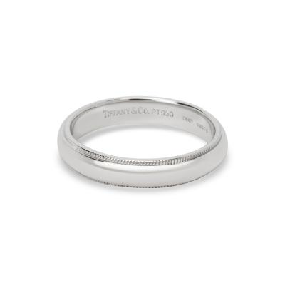 Tiffany and Co Tiffany Co Milgrain Mens Wedding Band 4mm
