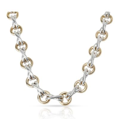 Tiffany and Co Tiffany Co Paloma Picasso X O Necklace in 18K Yellow Gold Sterling Silver