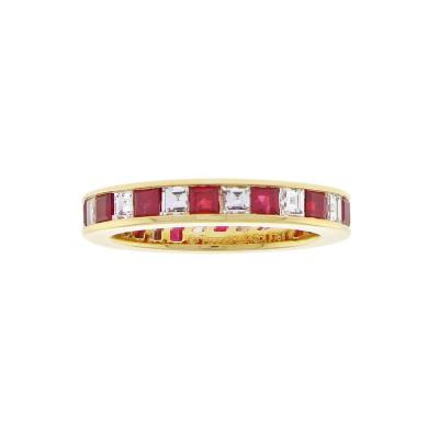 Tiffany and Co Tiffany Co Ruby and Diamond Band Ring