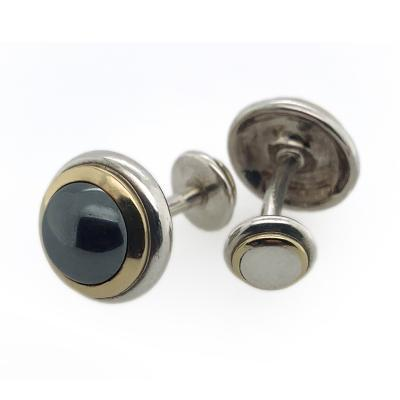 Tiffany and Co Tiffany Co Silver and Gold Hematite Cufflinks