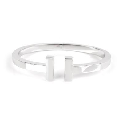 Tiffany and Co Tiffany Co Tiffany T Bangle in 18K White Gold