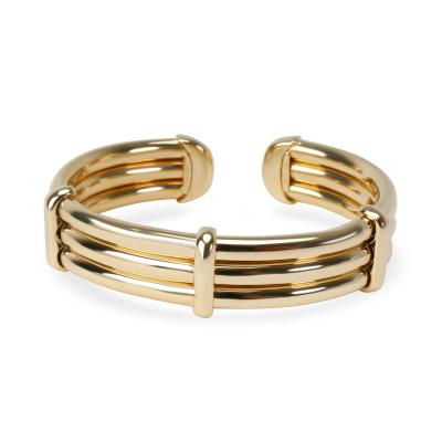 Tiffany and Co Tiffany Co Vintage 3 Row Tubular Bangle in 18K Yellow Gold