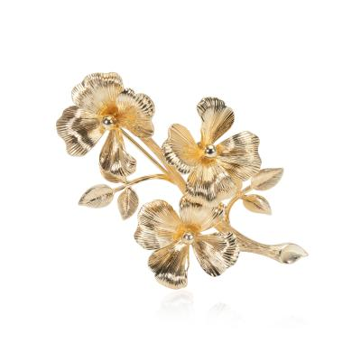 Tiffany and Co Tiffany Co Vintage Floral Brooch in 14K Yellow Gold