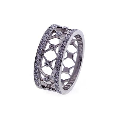 Tiffany and Co Tiffany Co Voile Collection Diamond Platinum Band Ring