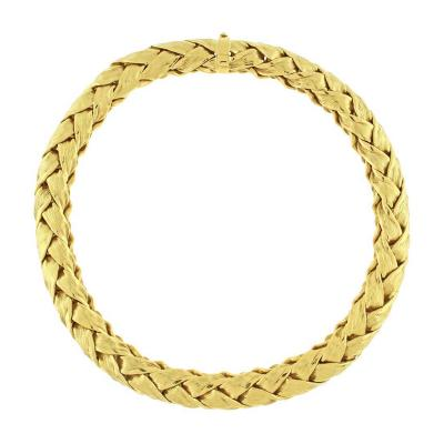 Tiffany and Co Tiffany Co Woven Wide Gold Necklace