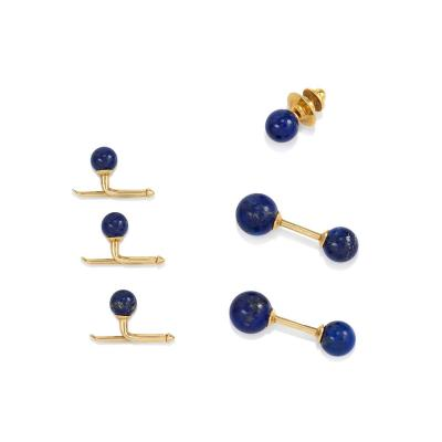 Tiffany and Co Tiffany Estate Lapis and Gold Dress Set