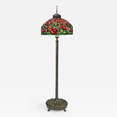 Tiffany and Co Tiffany Studios Peony Border Floor Lamp