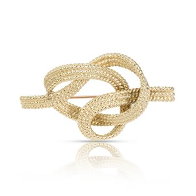 Tiffany and Co Vintage Tiffany Co Rope Knot Brooch in 18K Yellow Gold